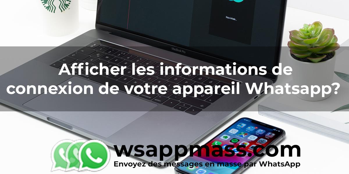 Informations de connexion WhatsApp