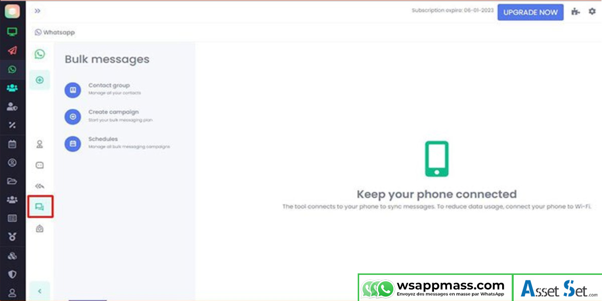 Enoyer des message en masse par WhatsApp